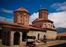 Vista a Saint Naum Monastery, Ohrid, Macedônia norte fotos de stock