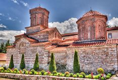 Vista a Saint Naum Monastery, Ohrid, Macedônia norte imagens de stock royalty free