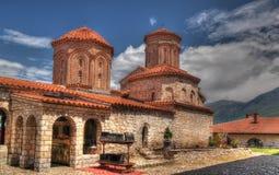 Vista a Saint Naum Monastery, Ohrid, Maced?nia norte imagem de stock