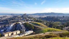 Vista San Francisco dell'occhio del ` s dell'uccello fotografie stock libere da diritti