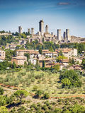 Vista a San Gimignano foto de archivo