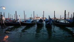 Vista a San Giorgio Maggiore Venezia, gondole Venezia, Italia archivi video