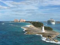 Vista San Juan dell'acqua dell'isola immagine stock