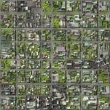 Vista satélite ilustração do vetor