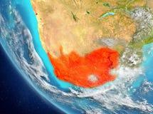 Vista satélite de África do Sul no vermelho Imagem de Stock