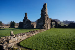 Vista of Sawley Abbey. Landscape shot of Sawley Abbey in Winter royalty free stock photography