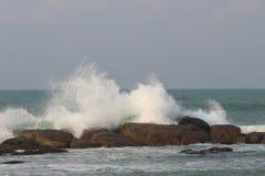 Vista sbalorditiva del mare in India Fotografia Stock Libera da Diritti