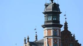 Vista sbalorditiva della cupola della Camera della società di scienza naturale a Danzica, Polonia video d archivio