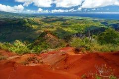 Vista sbalorditiva nel canyon di Waimea, Kauai, Hawai Fotografia Stock Libera da Diritti