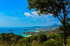 Vista sbalorditiva sopra Phuket, Tailandia immagini stock libere da diritti