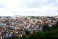 Vista sbalorditiva sulla città di Lisbona Fotografia Stock