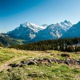 Vista scenica da Maenlichen Immagini Stock