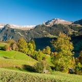 Vista scenica da Maenlichen in autunno Fotografia Stock