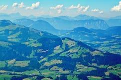 Vista scenica dal picco di Kitzbuhel, Tirolo, Austria Fotografia Stock