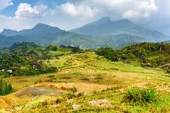 Vista scenica degli altopiani nel PA del Sa, Lao Cai Province, Vietnam Fotografia Stock