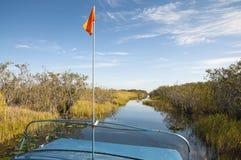 Vista scenica del canale navigabile dei terreni paludosi Immagini Stock Libere da Diritti
