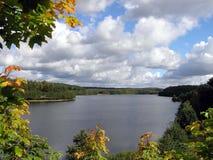 Vista scenica del fiume Immagini Stock