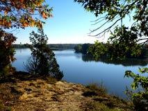 Vista scenica del fiume di Illinois Immagine Stock