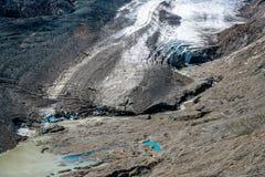 Vista scenica del ghiacciaio di Grossglockner Fotografia Stock