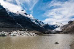 Vista scenica del ghiacciaio di Grossglockner Fotografie Stock