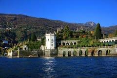 Vista scenica del Isola Bella, Lago Maggiore, Italia, Europa Immagini Stock