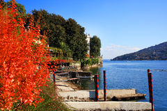 Vista scenica del Isola Bella, Lago Maggiore, Italia, Europa Immagine Stock