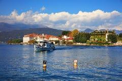Vista scenica del Isola Bella, Lago Maggiore, Italia, Europa Fotografia Stock Libera da Diritti
