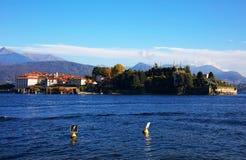 Vista scenica del Isola Bella, Lago Maggiore, Italia, Europa Fotografia Stock