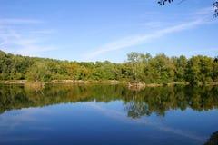 Vista scenica del lago Fotografia Stock