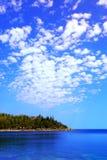 Vista scenica del lago Fotografie Stock