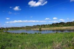Vista scenica del lago Immagine Stock Libera da Diritti