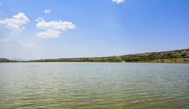 Vista scenica del lago Khabeki, presto valle Immagini Stock Libere da Diritti