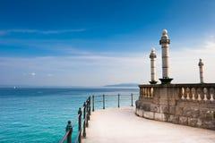 Vista scenica del mare adriatico Immagini Stock Libere da Diritti