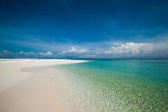 Vista scenica del mare contro il cielo Immagine Stock Libera da Diritti