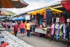 Vista scenica del mercato di mattina in Ampang, Malesia Fotografie Stock Libere da Diritti