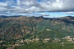 Vista scenica del parco nazionale di Peneda Geres fotografie stock libere da diritti
