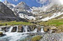 Vista scenica del plateau di Maillet in francese Pirenei Immagine Stock