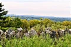 Vista scenica del rifugio nazionale di Oxbow Wildlfe preso da Harvard, Massachusetts, Stati Uniti immagine stock libera da diritti