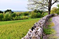 Vista scenica del rifugio nazionale di Oxbow Wildlfe preso da Harvard, Massachusetts, Stati Uniti fotografie stock libere da diritti