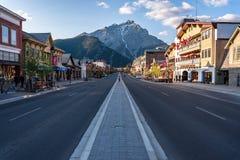 Vista scenica del townsite di Banff Fotografia Stock Libera da Diritti
