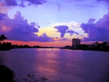 Vista scenica del tramonto Immagine Stock Libera da Diritti