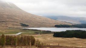 Vista scenica dell'altopiano della Scozia Fotografia Stock Libera da Diritti