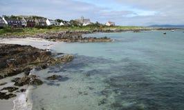 Vista scenica dell'isola Iona fotografia stock