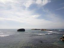 Vista scenica dell'oceano a Galle, Sri Lanka fotografia stock
