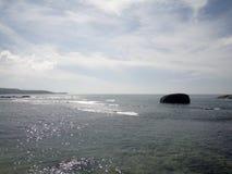 Vista scenica dell'oceano a Galle, Sri Lanka immagini stock libere da diritti