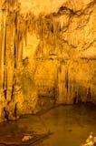 Vista scenica della caverna del ` s di Nettuno sardinia L'Italia fotografie stock libere da diritti