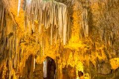 Vista scenica della caverna del ` s di Nettuno sardinia L'Italia fotografie stock