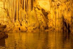 Vista scenica della caverna del ` s di Nettuno sardinia L'Italia immagine stock