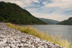 Vista scenica della diga Immagine Stock Libera da Diritti