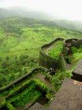 Vista scenica della fortificazione Lohgad-III Fotografia Stock